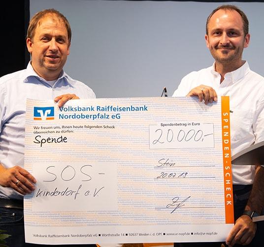 SOS Kinderdorf Spendenaktion zum 30-jährigen Firmenjubiläum