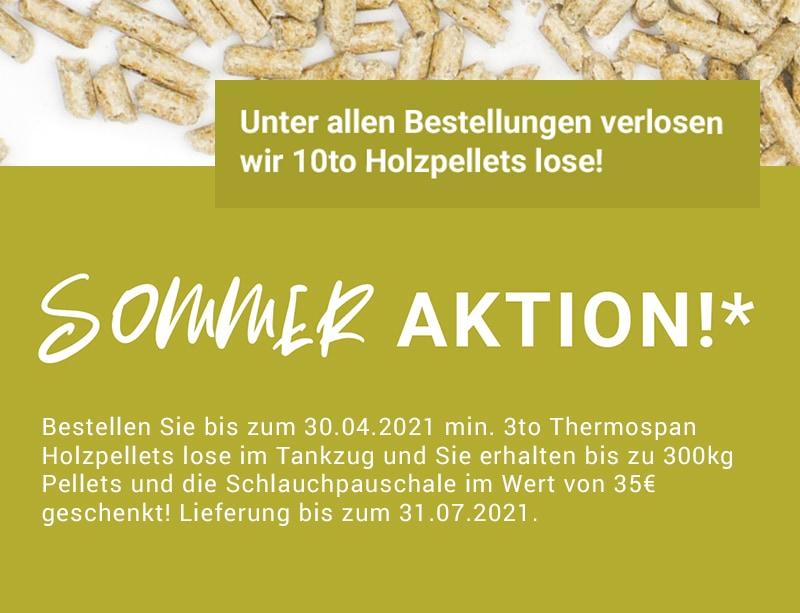 Thermospan Holzpellets Sommeraktion 2021